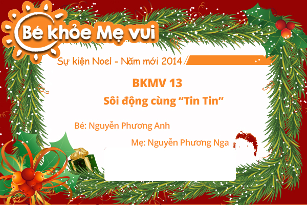 BKMV 13 - Sôi động cùng Tin Tin - Bé Nguyễn Phương Anh - Mẹ Nguyễn Phương Nga