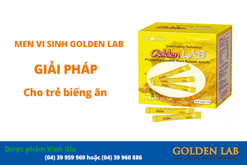 Men vi sinh golden lab cho tre bieng an