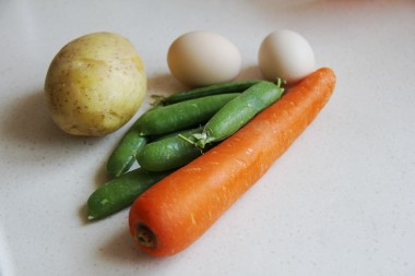 Khoai tây cuộn rong biển cho trẻ lười ăn