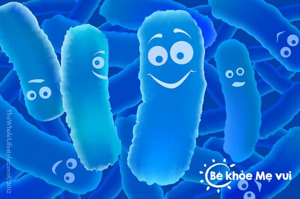Men vi sinh đóng vai trò quan trọng trong hệ tiêu hóa của trẻ